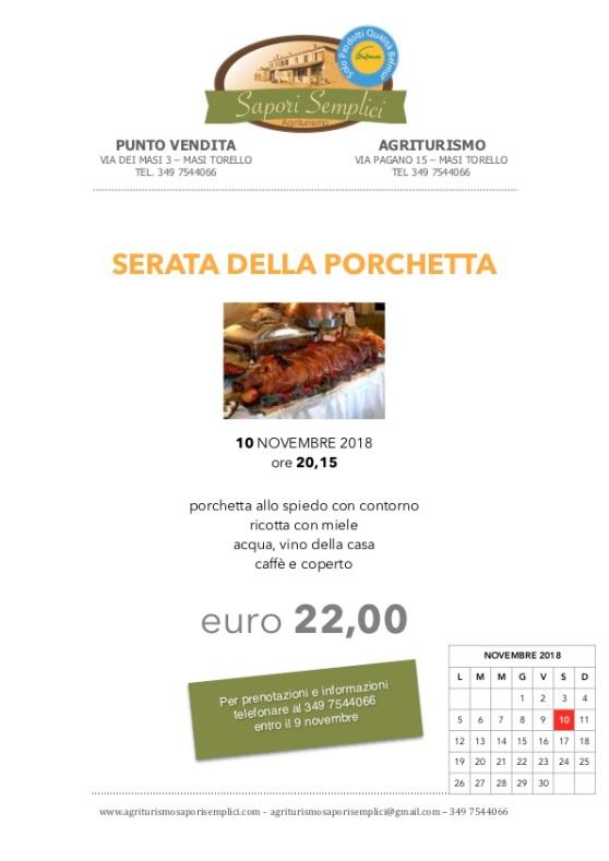 Sap semp Porchetta 2018